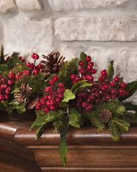 pine berry silk garland for decorating at petals
