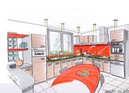 dessiner en perspective une cuisine cuisine apprendre a dessiner une cuisine en perspective apprendre