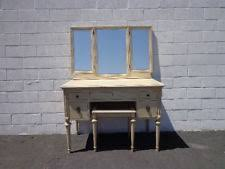 vintage vanity table with mirror and bench antique vanity table ebay