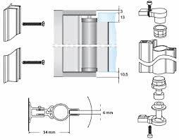 Shower Door Hinges Awesome Aluminium Pivot Hinge For 6mm Glass Shower Door No