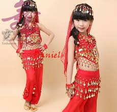 bellydance costume for girls kids belly dance top pants