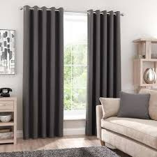 Curtains In A Grey Room Grey Blackout Eyelet Curtains Dunelm