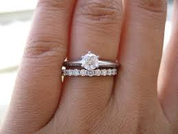 engagement ring and wedding band sautering soldering platinum rings pricescope forum