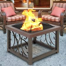 amazon com best choice products outdoor cocktail fire pit table