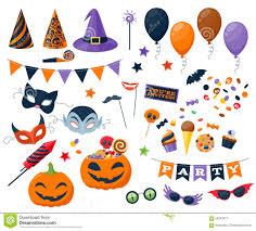 free halloween party clipart halloween party colorful icons set vector stock vector image