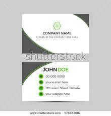 business card template green business card stock vector 725929171