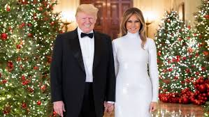 Donald Trump Melania hold hands in official Christmas portrait