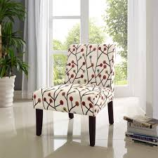 Floral Accent Chairs Living Room Dorel Living Armless Floral Accent Chair Fa164 The Home Depot