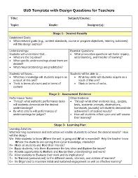 design criteria questions understanding design template lesson plan templates teacher classy