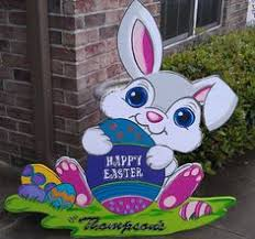 Handmade Easter Yard Decorations by Easter Basket Yard Art Easter Outdoor Wood Decoration Easter