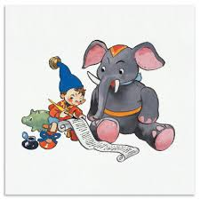noddy noddy and the elephant fine art print 22 x 22cm framed noddy noddy and the elephant fine art print 22 x 22cm framed