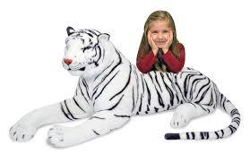 amazon com melissa u0026 doug giant siberian white tiger lifelike