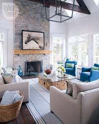 Cottage Living Room House Tour Neutral Nautical Lake House Nautical Style Cottage