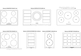 Siemens Cooktop Induction Induction Cooktops Dwg Free Cad Blocks Download