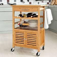 servierwagen küche sobuy servierwagen aus hochwertigem bambus küchenwagen küchenregal
