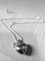 Personalized Memorial Necklace Fabulous Double Heart Locket Keepsake Necklace And Urn The Top