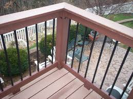Metal Banister Spindles Metal Deck Railings Inspirations And Futuristic Lowes Balusters