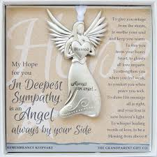 bereavement gift ideas remembrance keepsake angel ornament in deepest sympathy