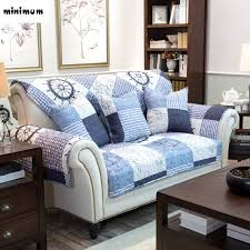 non slip cover for leather sofa american style ocean retro new non slip cotton fabric sofa cushion