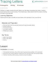 lesson plans for kindergarten writing education com