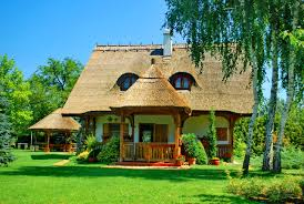 houses countryside villa weekend grass relax rest vacation calm