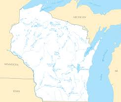 Wisconsin Topographic Map by Wisconsin Rivers And Lakes U2022 Mapsof Net