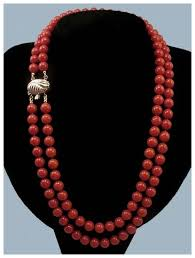 coral bead necklace images Extraordinary 14k gold sardinian oxblood red coral bead necklace jpg