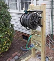 wall mount garden hose reel 150 ft rapid reel but mounted on