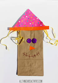 all things kids scarecrow paper bag craft for kids