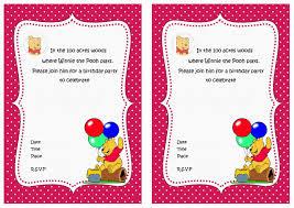 Winnie The Pooh Invitation Cards Winnie The Pooh Birthday Invitations U2013 Birthday Printable