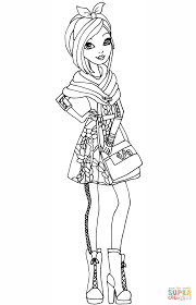 ever after high poppy o u0027hair coloring page free printable