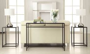 Sofa Table Design Glass Ebern Designs Burke Glass 3 Piece Console Table Set U0026 Reviews