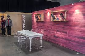 Outdoor Furniture Trade Shows by Pink Wood Texture Feature Wall In The Smartwool Trade Show Booth
