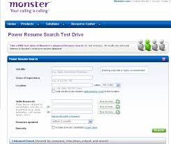 cv title examples monster s new resume search is a winner ere