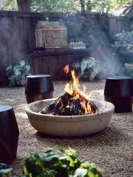 How To Use A Firepit Summer Portraits Around The Pit Cement Bowls And Gardens
