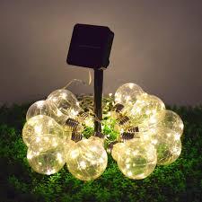 solar power led lights 100 bulb string solar fairy light string 100 led copper wire string in light bulb