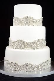 silver wedding cakes wedding cake with silver dragees borders wedding