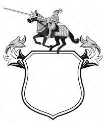 knights tournament crest u2014 stock vector scusi0 9 22612013