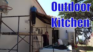 building an outdoor kitchen shed youtube