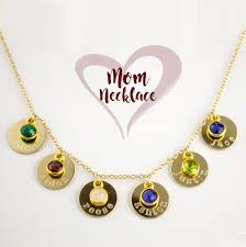 necklace names images Grandma necklace with custom grandkids names and birthstones jpg