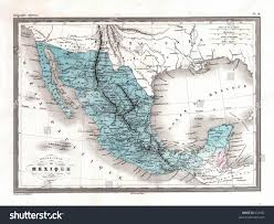 me a map of mexico antique 1870 map mexico stock illustration 874581