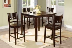 Pieces Wood Dining Table Set In Brown Finish F - Rubberwood kitchen table