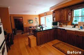 white kitchen cabinets orange walls kitchen remodel design lines ltd