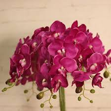 bulk wholesale home decor hot 7bundle silk phalaenopsis bulk wholesale artificial flowers