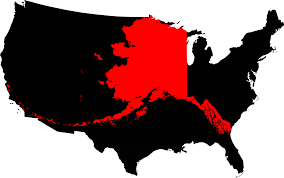 State Of Alaska Map by File Alaska Compared To The United States Map Png Wikimedia Commons