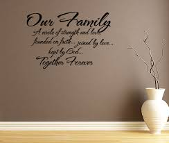 family rules wall decals quote vinyl text wall words family quote family circle of strength and love wall decal quote wall sticker wall