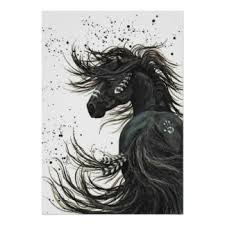 Black Horse Mustang Mustang Posters Zazzle