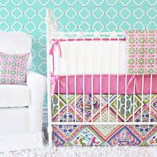 Purple And Aqua Crib Bedding Tastes By Paisley Bedding All Modern Home Designs