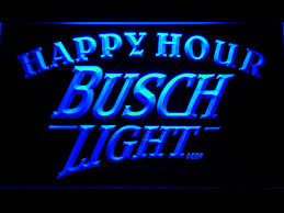 busch light neon sign 620 busch light beer happy hour bar led neon sign with on off switch