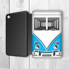 mini camper van camper van personalised ipad mini flip case blue